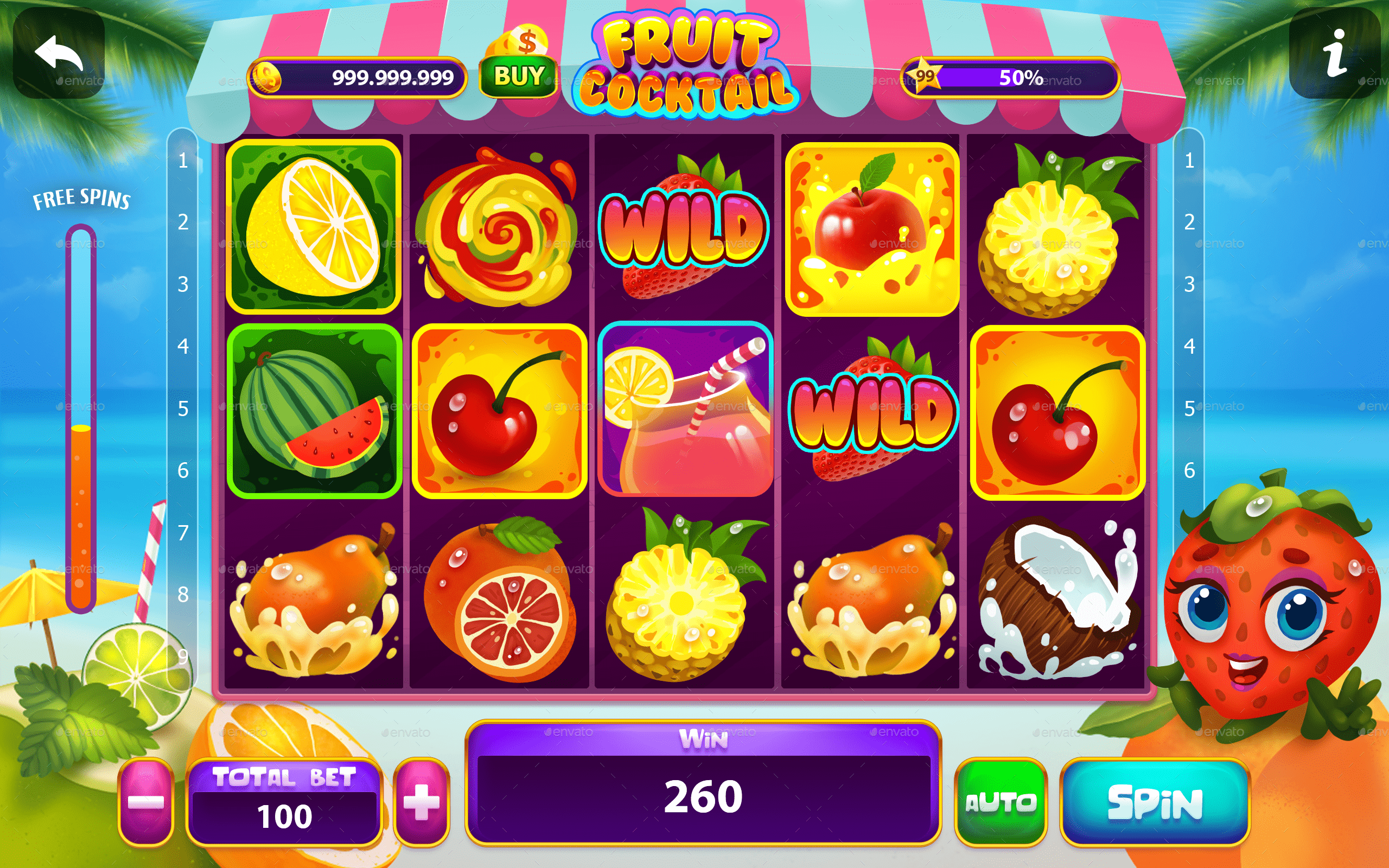 Fruit Cocktail символы