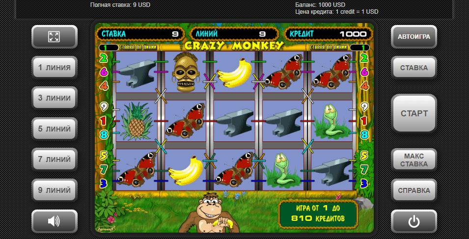 Сrazy Monkey символы
